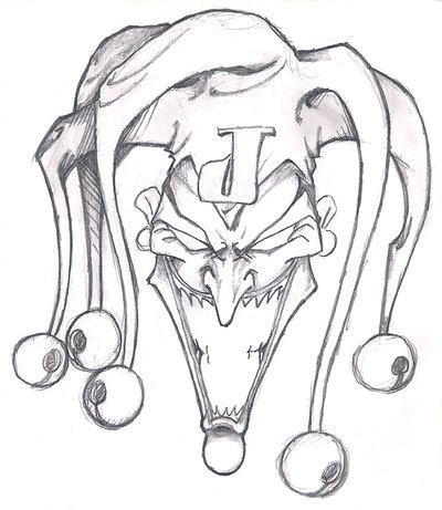 400x461 Drawn Skull Joker