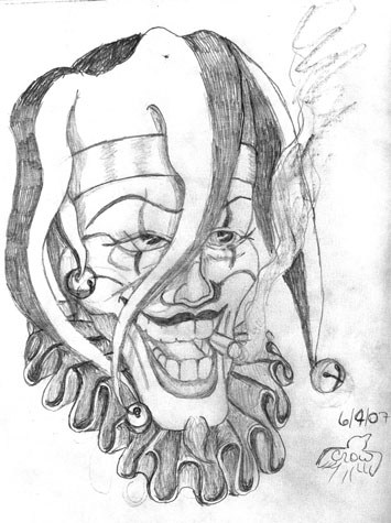 355x475 Gangster Clown Face Drawings
