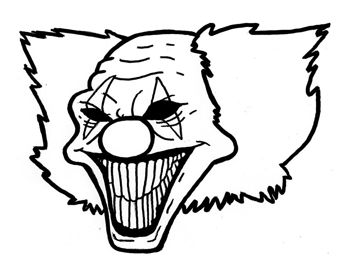 1150x885 Gangster Clowns Drawings Evil Clown Top Sad For Of Isolution Me