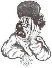 170x222 Sad Gangster Clown Drawing