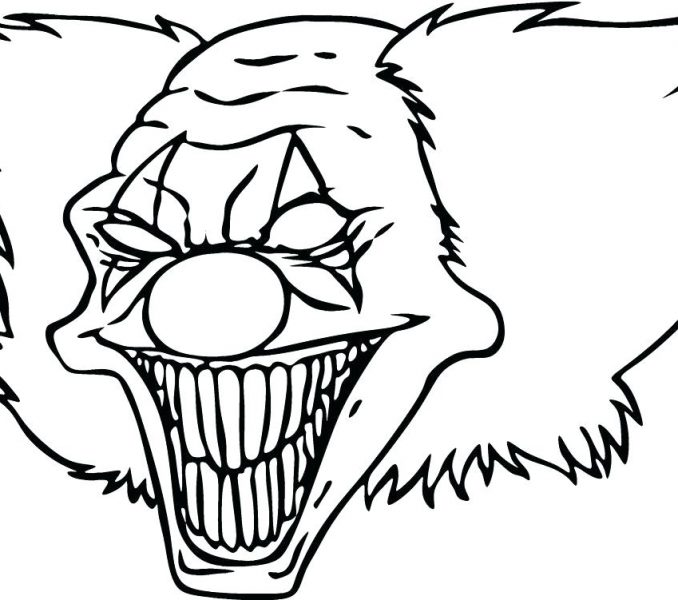 678x600 Cool Clown Drawings 2018 Coloring Kids