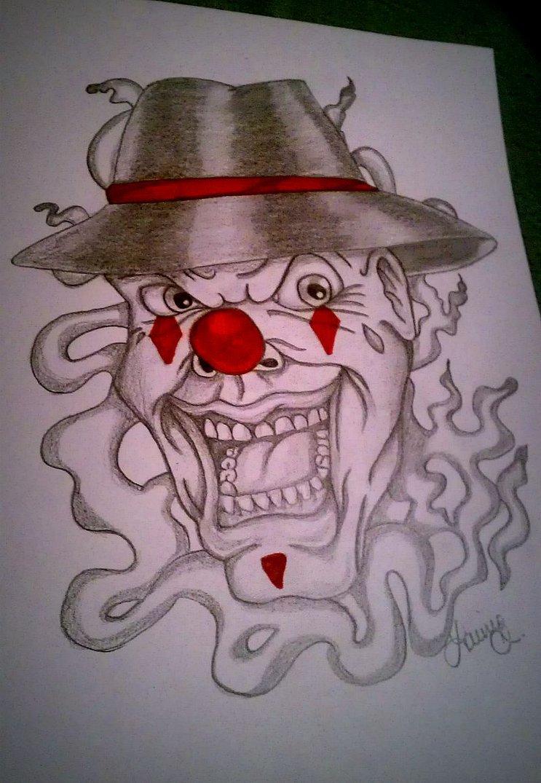 743x1075 Crazy Clown Gangster By Xpnutt