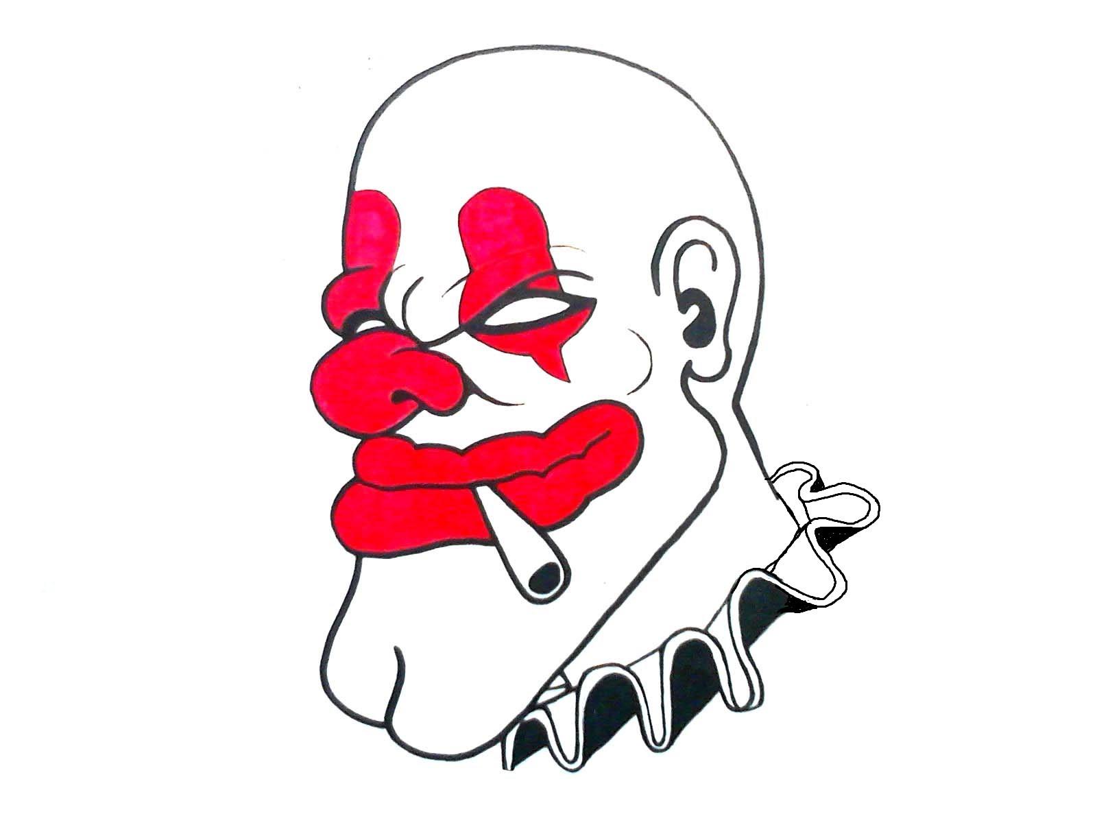 1600x1200 How To Draw A Gangsta How To Draw A Gangsta Clown