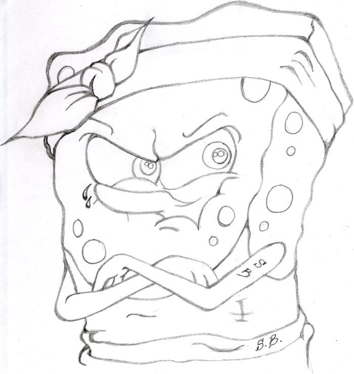700x739 Gangster Spongebob By Xedous