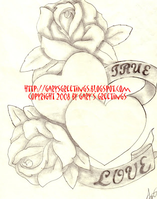 315x400 Gary's Greetings True Love Hearts And Roses
