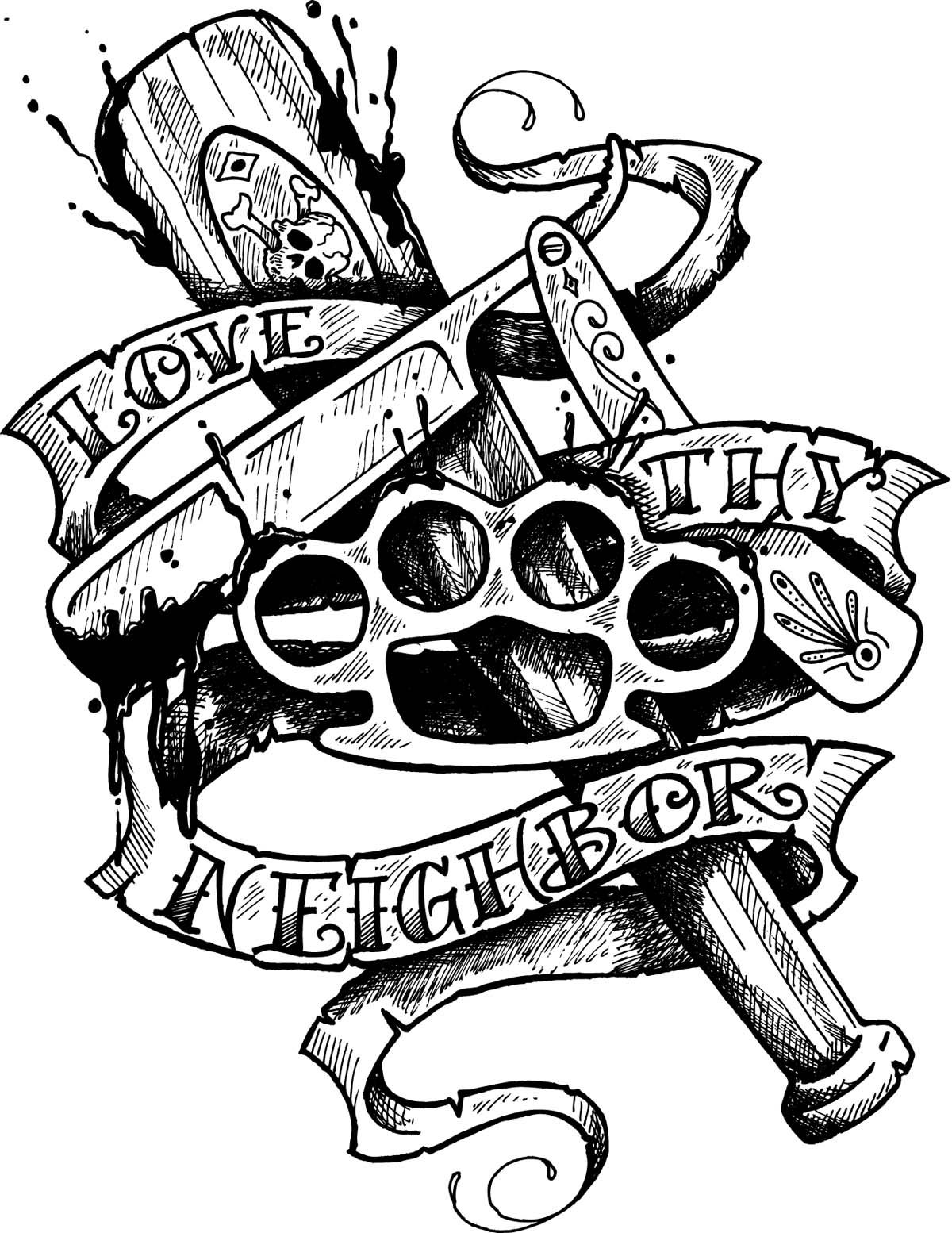 1200x1554 Gangster Tattoo Art Report Issue Within An Image. Tats