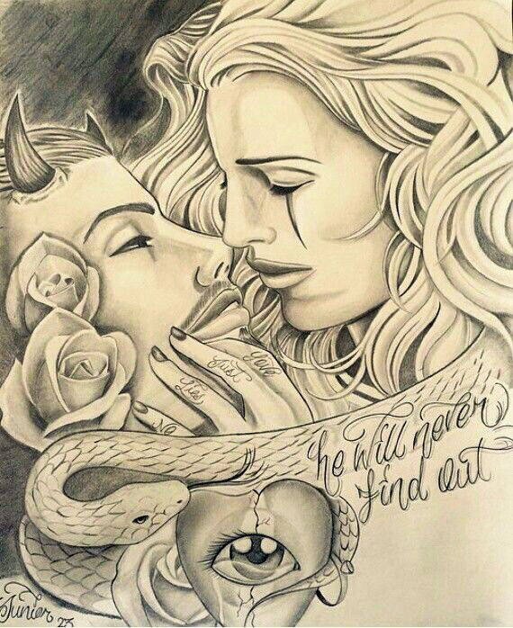 570x698 Collection Of Gangster Love Drawing High Quality, Free