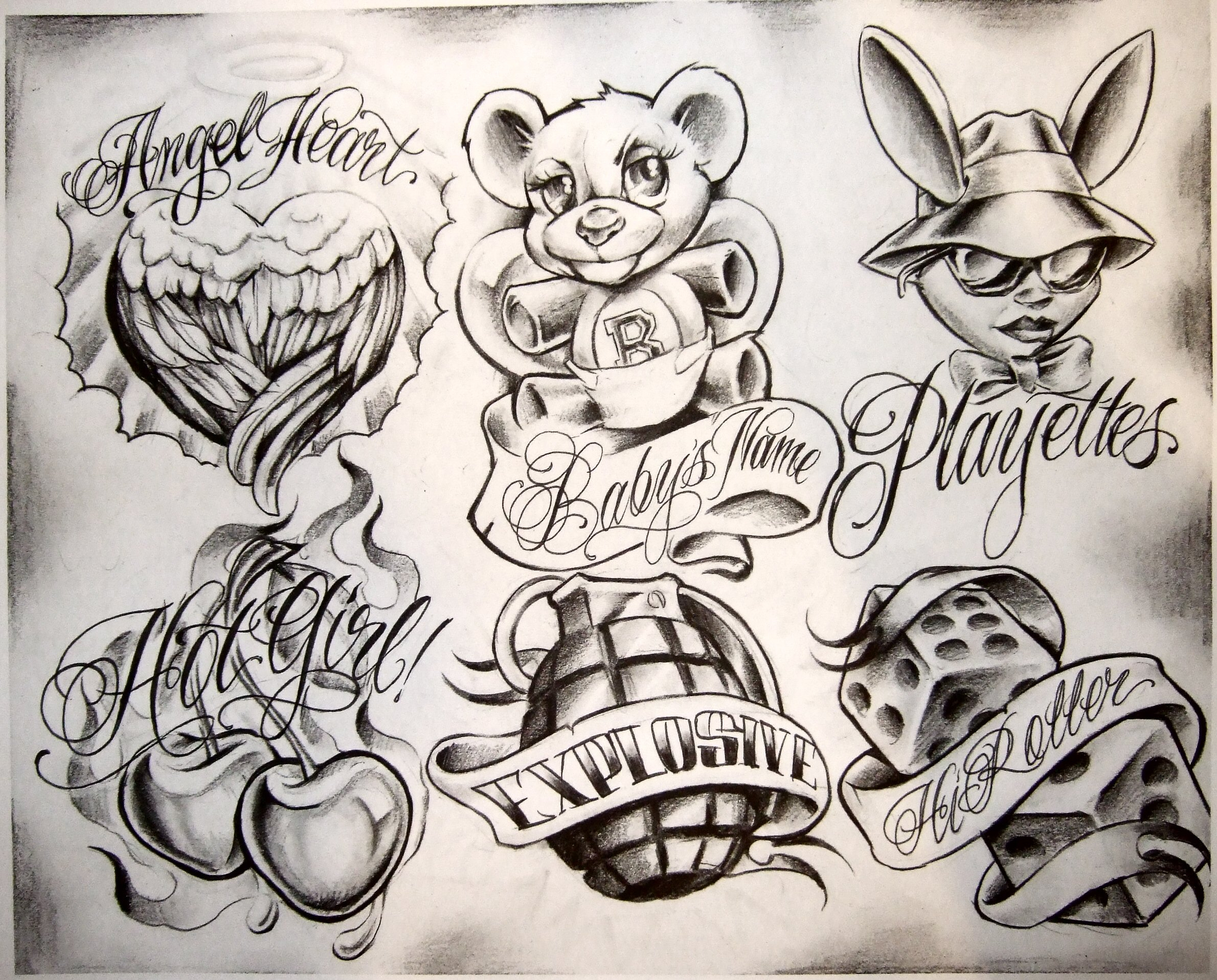 2380x1916 Chicano Love Drawings Smiling Clown Tattoo Drawing