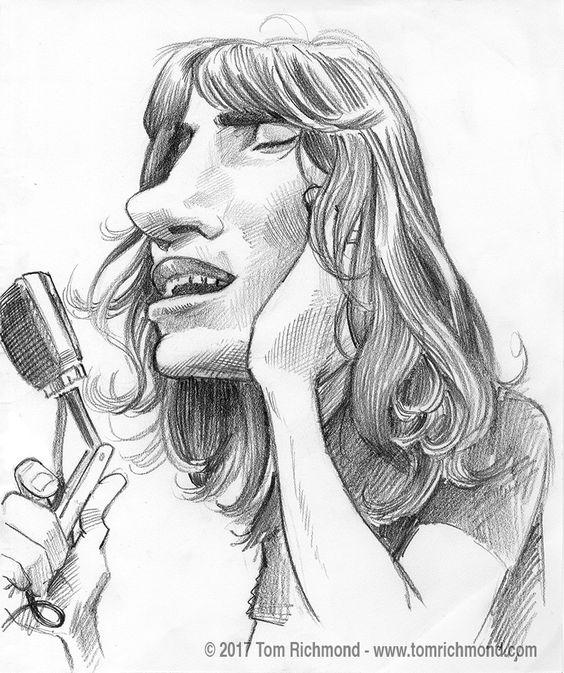 564x673 David Gilmour 2 Rockers En Cartoon David Gilmour