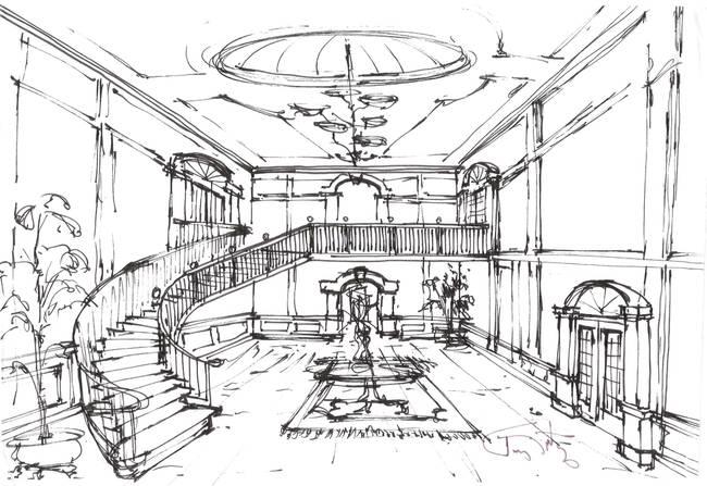 650x447 Gateway Concept Sketch Lobby By Tony Fritz