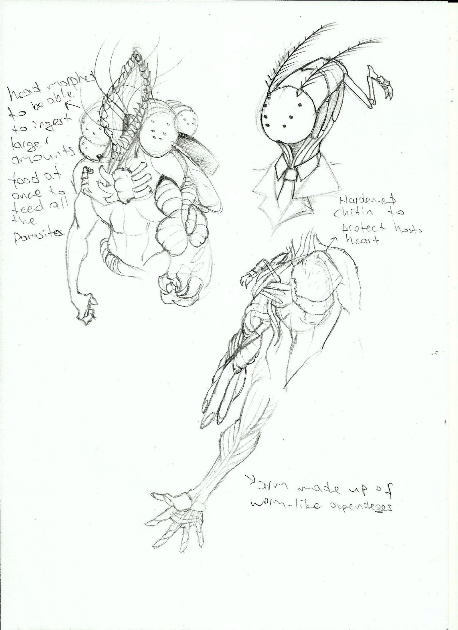 1600x2200 Parasite Race Sketches(Gateway) By Mrfuzzy332