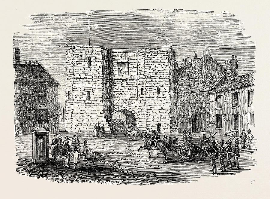 900x662 Alnwick Castle Gateway Drawing By English School