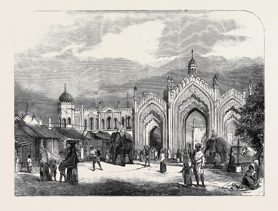 900x682 Gateway At Lucknow Drawing By English School