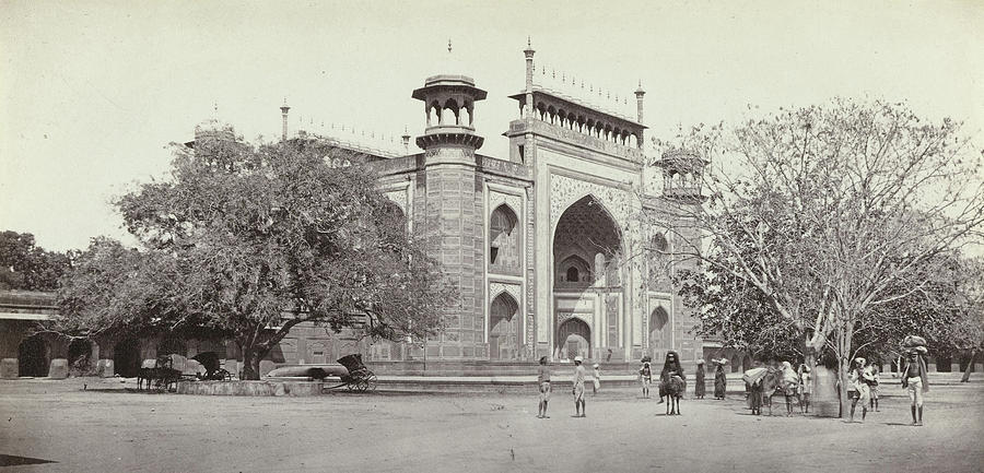 900x433 Gateway To The Taj Mahal Darwaza I Rauza Drawing By Artokoloro