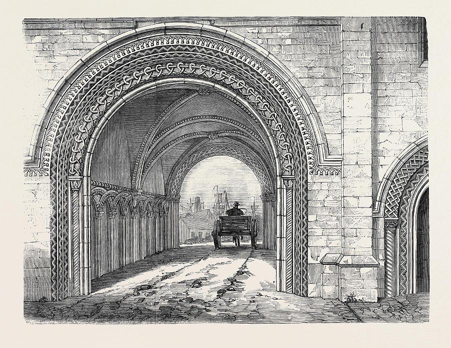 900x696 The Abbey Gateway Drawing By English School