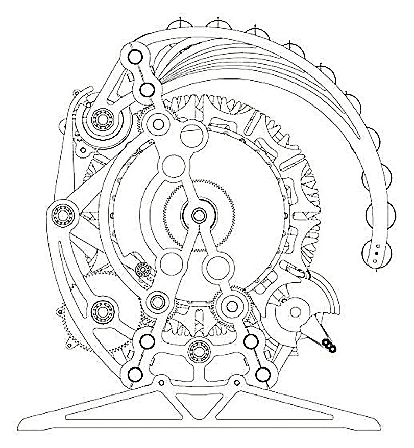 811x879 Unique Steampunk Gears Coloring Pages Clock Drawing