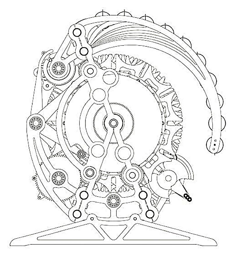 Gear Clock Drawing at GetDrawings | Free download