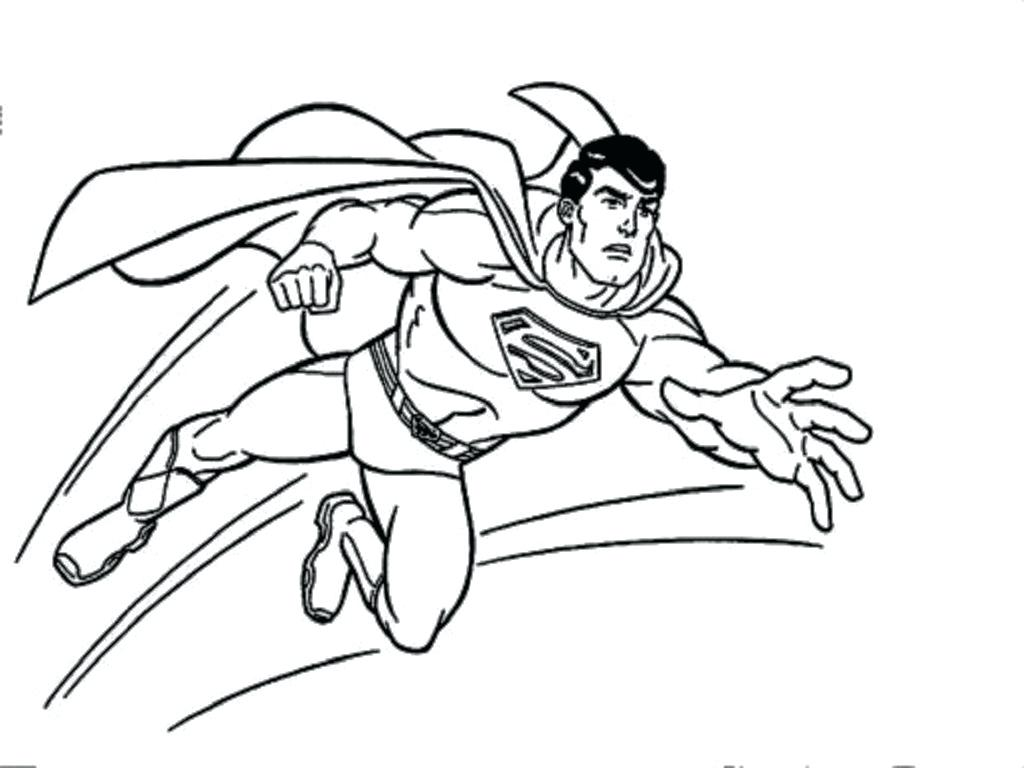 1024x768 Superman Sheet Pencil And In General Coloring Dc Superman Pictures