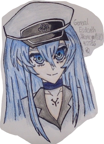 366x504 General Esdeath (Akame Ga Kill!) Drawing {Colored} By Squeakysyrup