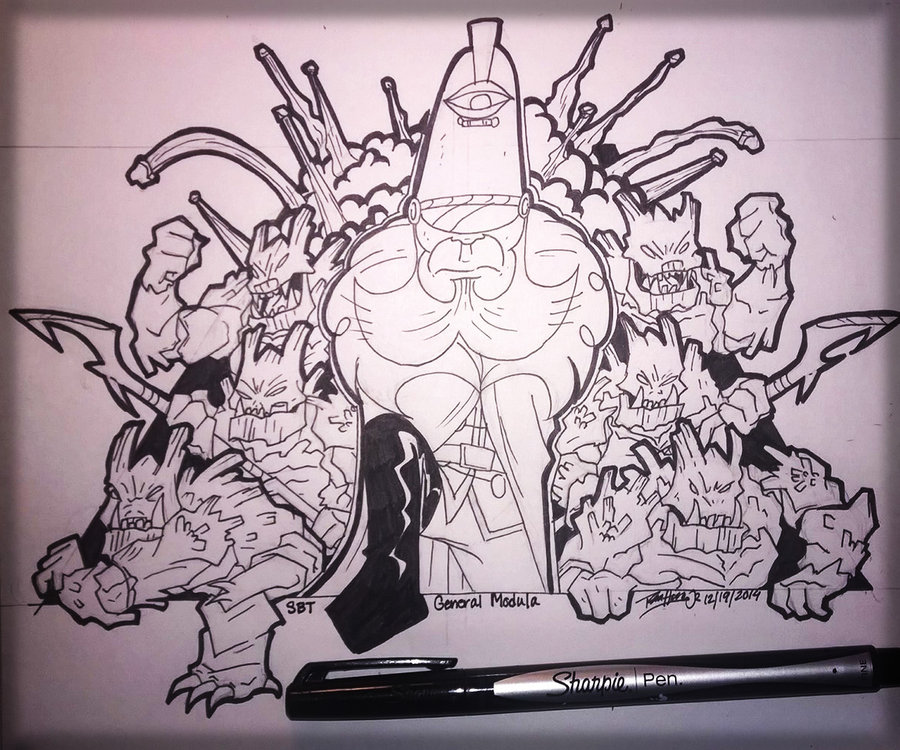 900x750 General Modula Take Over Mural Drawing. By Koude123