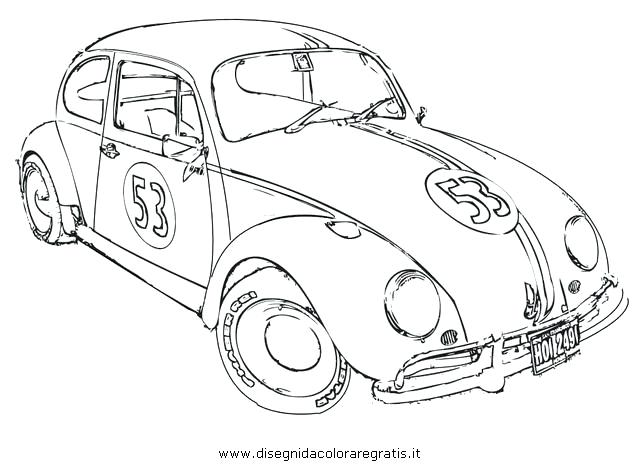 640x467 Love Bug The Movie Coloring Page Coloring Pages Crafts General Lee