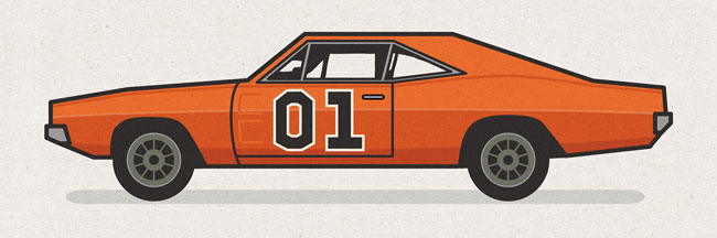 650x216 Collection Of General Lee Car Drawing High Quality, Free