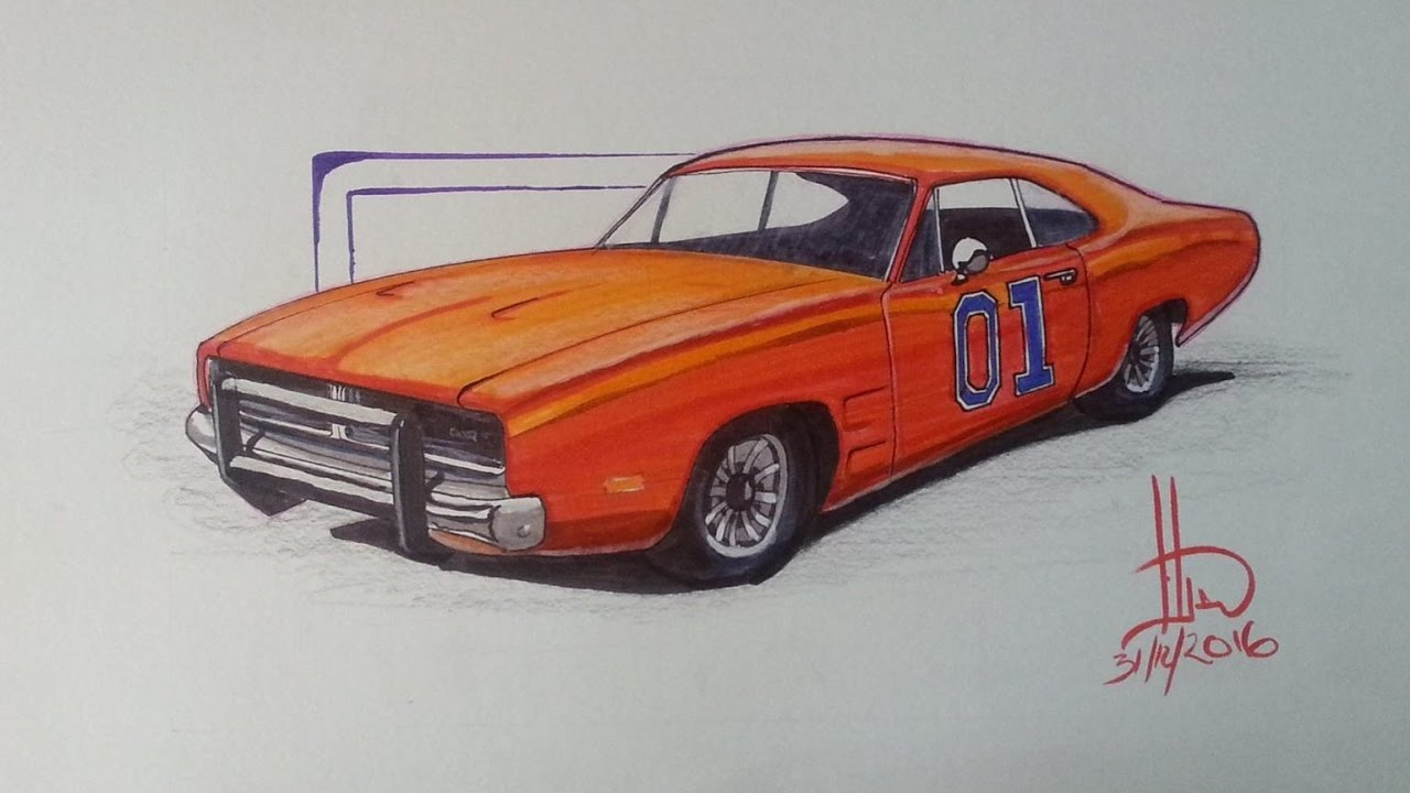 1280x720 General Lee Dodge Charger Rt 1969