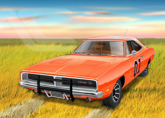 577x412 The Dukes Of Hazard General Lee 69 Dodge Charger By Created 2draw