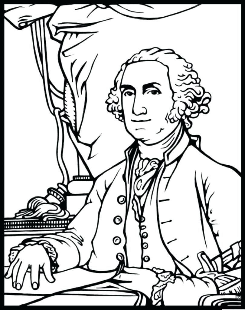 810x1024 George Washington Coloring Page Simple George Washington Color