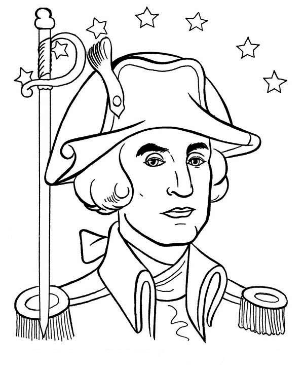 George Washington Drawing Simple At GetDrawings