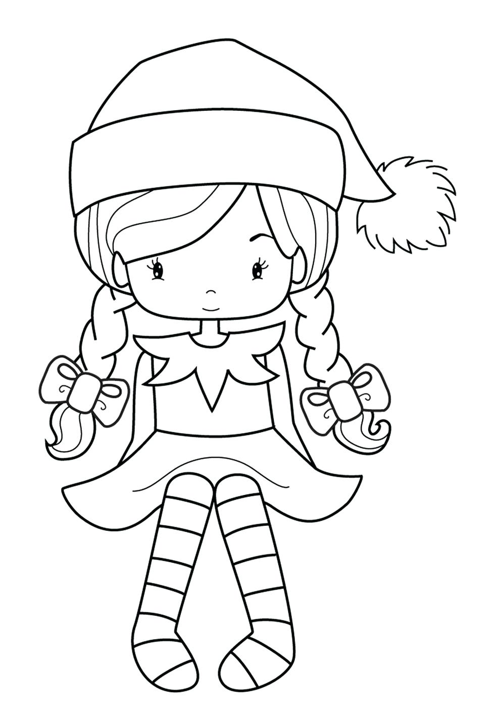 972x1434 Girl Elf On The Shelf Coloring Pages The Elf On The Shelf Coloring