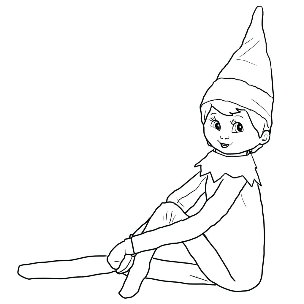 1024x1024 Imagination Elf On A Shelf Coloring Pages Free The Elf On A Shelf