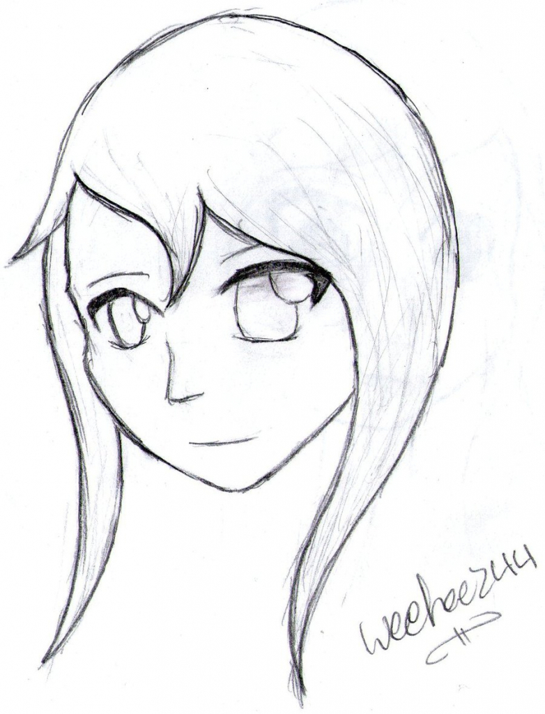 Girl Face Drawing Easy At Getdrawings Com Free For Personal Use