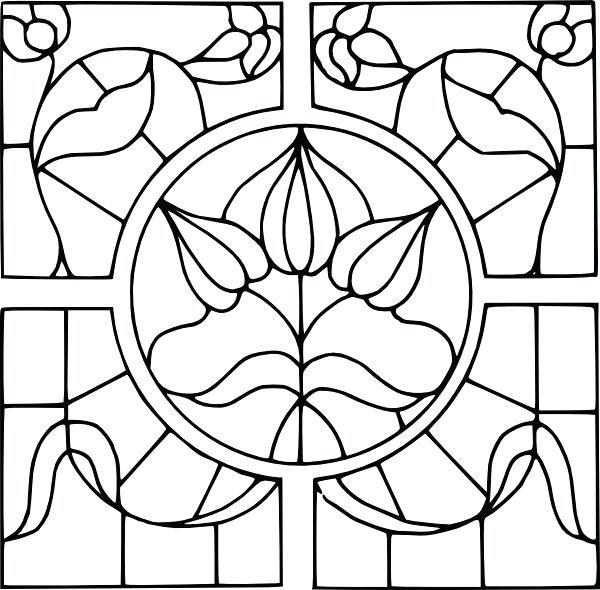 600x590 Stained Glass Drawing Colorful Stained Glass Window Design Stained