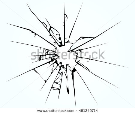 450x380 Collection Of Shattered Window Drawing High Quality, Free