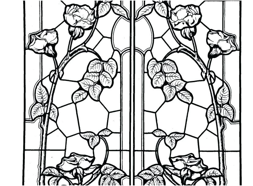 827x609 Window Coloring Page Stained Glass Window Coloring Pages Picture