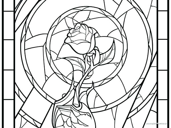 600x450 Christmas Stained Glass Window Colouring Sheets