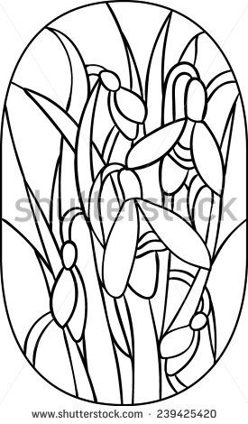 275x470 Line Drawings Of Snowdrops