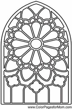 236x353 Stained Glass Window Coloring Pages
