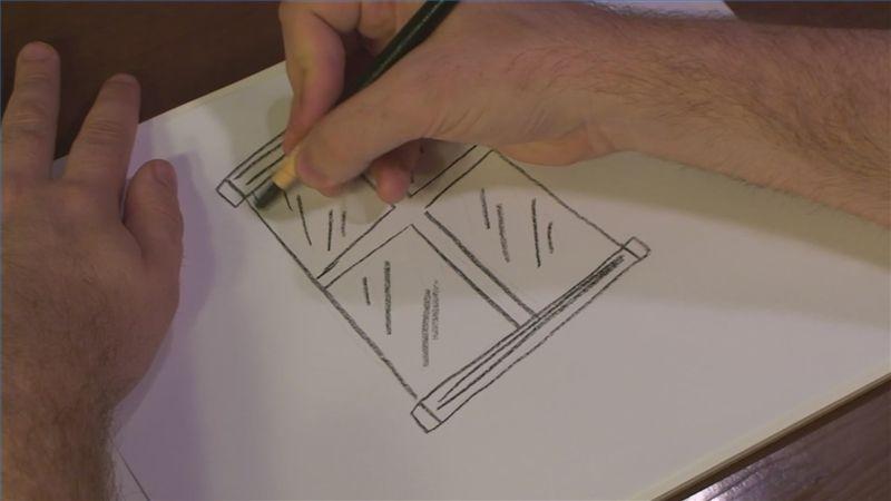 800x450 How To Draw A Glass Window Building Window, Glass