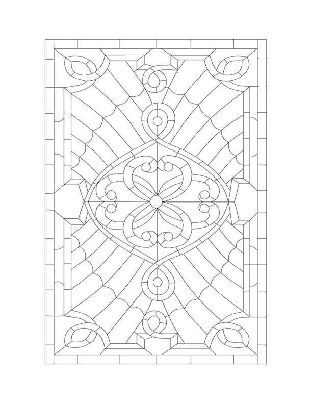 612x792 Free Victorian Stained Glass Window Patterns