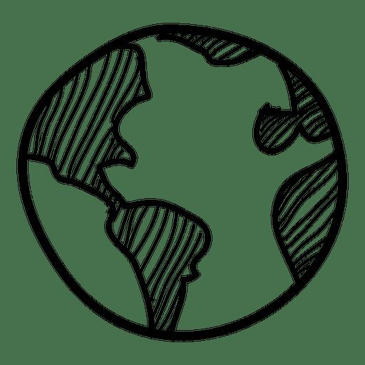 512x512 Earth Globe Drawing