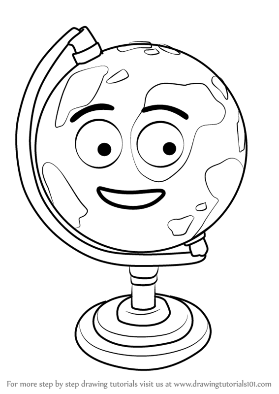 567x800 Learn How To Draw Gilbert The Globe From Don'T Hug Me I'M Scared