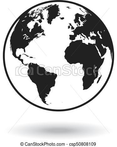 374x470 Vector Black Globe World Map. Detailed Black World Map, Mapped