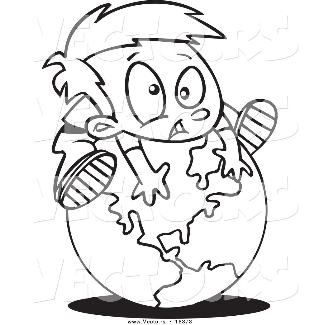 1024x1044 Vector Of A Cartoon Globe