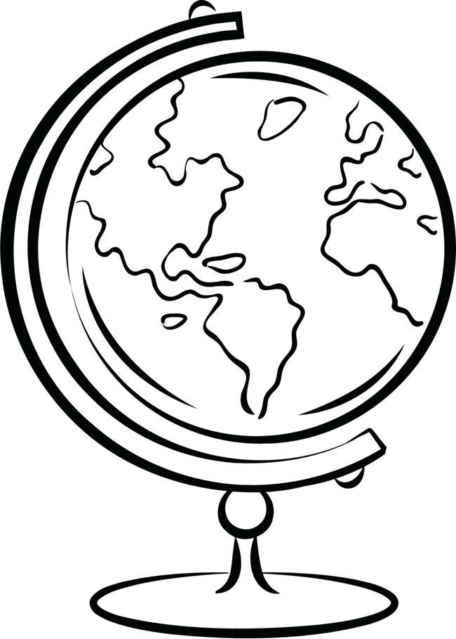 650x910 Black And White Globe Hand Drawn Globe Black Silhouette Colour