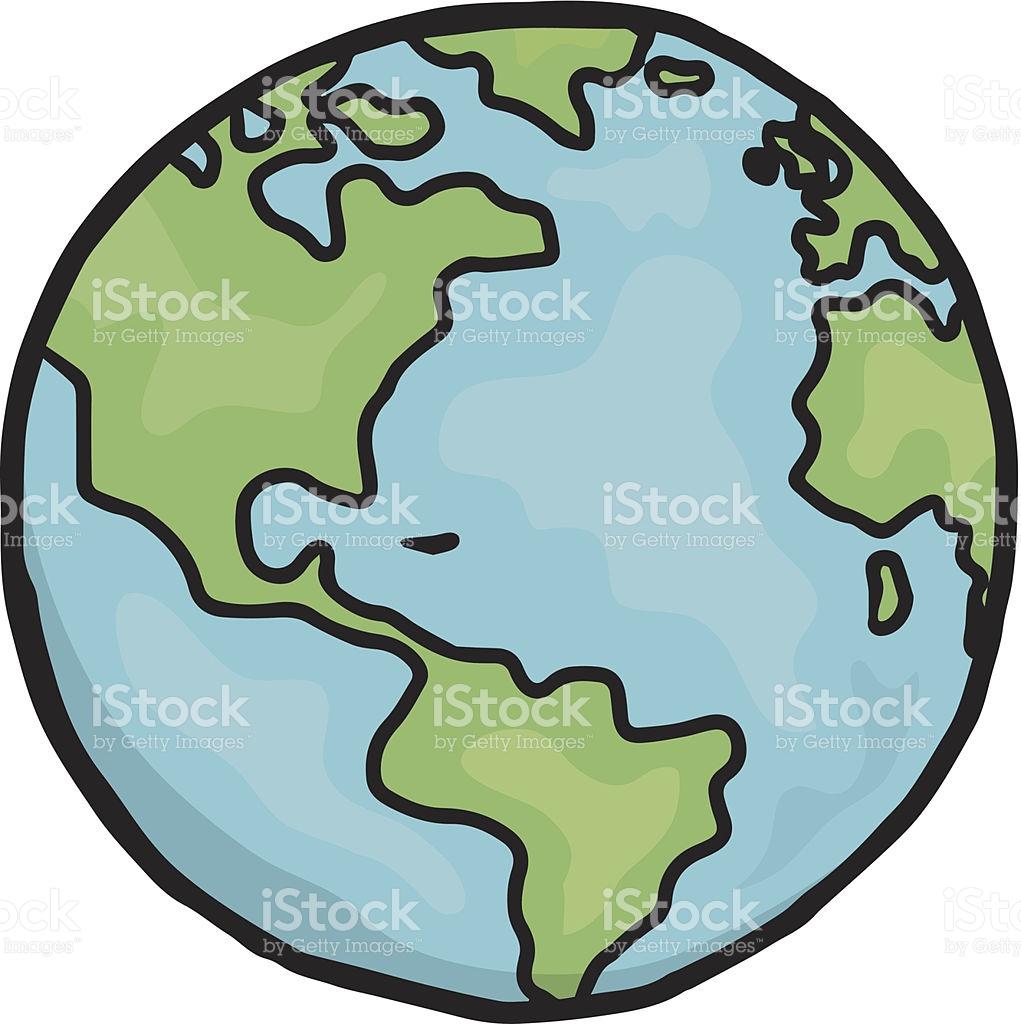 1021x1024 Cartoon Earth Drawing Drawn Globe Planet Earth