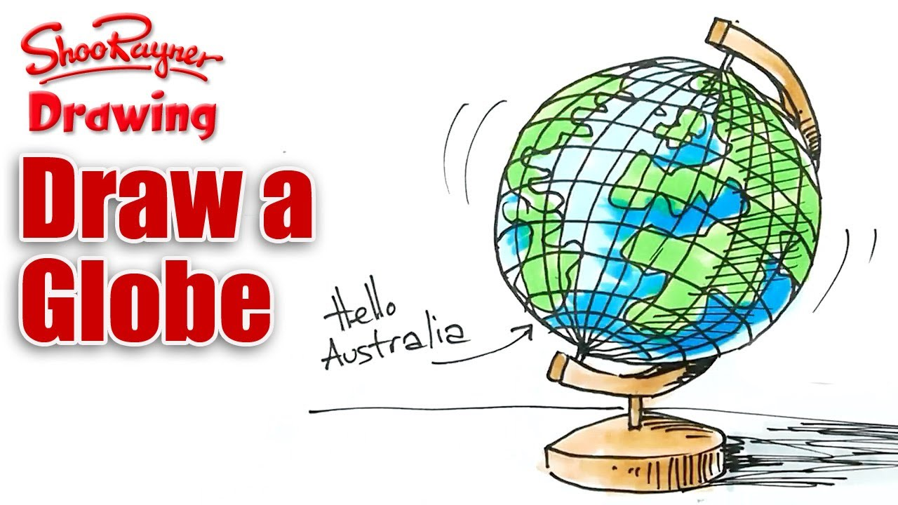1280x720 How To Draw A Globe Real Easy