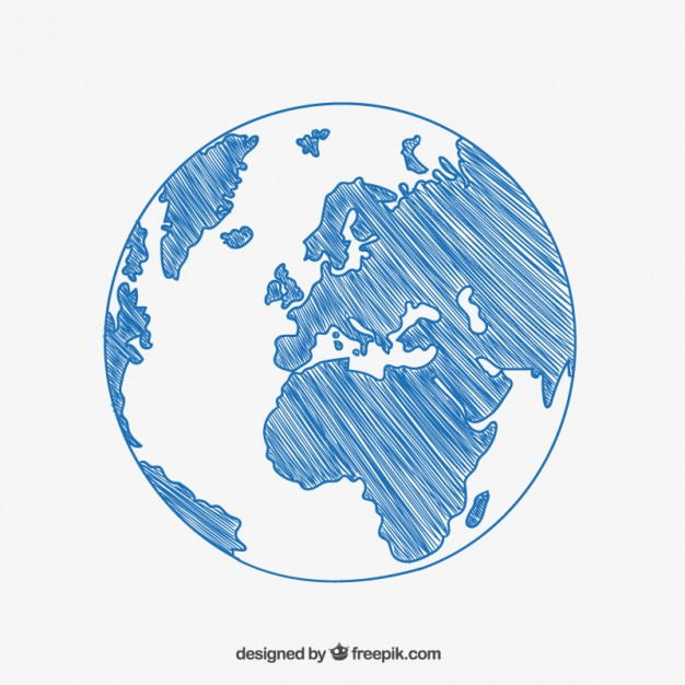 626x626 Sketchy Globe Drawing Vector Free Download