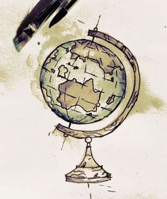 236x282 Globe Drawing This Is Really Good For A School Project! Tattoo